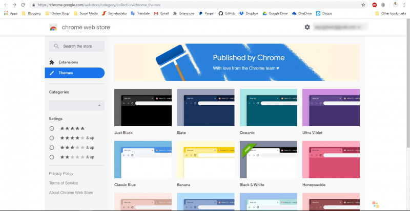 Google Merilis Official Theme Untuk Chrome! Ada Dark Theme Juga.