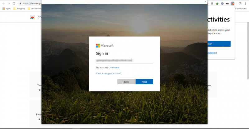 Microsoft Merilis Extensi Timeline ke Google Chrome