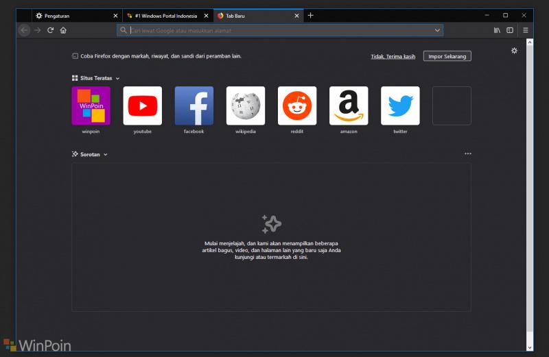Cara Menghilangkan Box Pencarian di Halaman New Tab Mozilla Firefox!