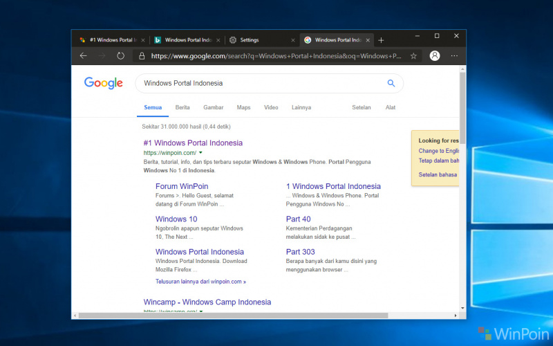 Cara Ubah Search Engine Microsoft Edge Berbasis Chromium ke Google!