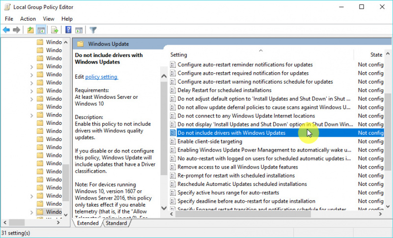 Cara Mencegah Windows 10 Melakukan Update Driver
