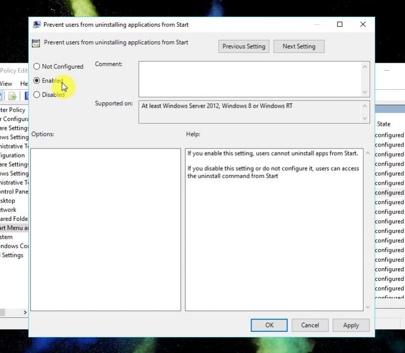 Cara Menghilangkan Pilihan Uninstall Apps pada Start Menu Windows 10