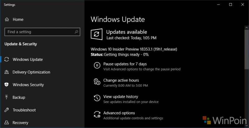 Microsoft Merilis Windows 10 Insider Preview Build 18353 Untuk Insider Fast Ring!