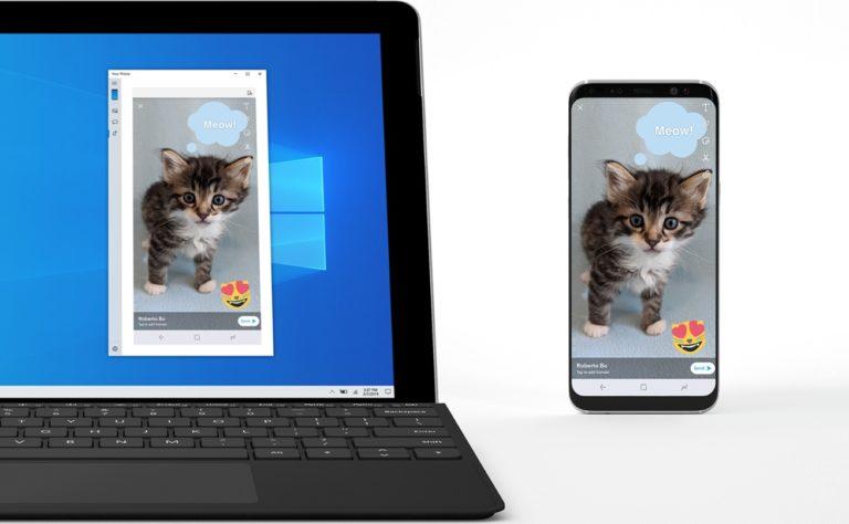 Microsoft Secara Resmi Menguji Fitur Screen Mirroring Pada Aplikasi Your Phone Windows 10