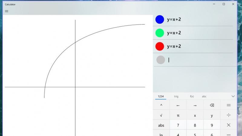 Microsoft Tambahkan Mode Grafik Kedalam Aplikasi Kalkulator