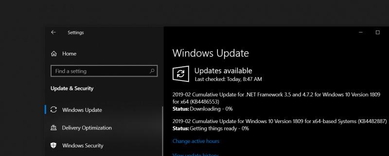 Cumulative Update Maret 2019 Dirilis Untuk Windows 10 1809! Peningkatan dan Perbaikan Ditambahkan.