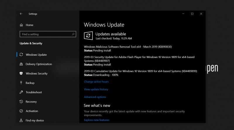 Pembaruan Kumulatif KB4489899 Di Windows 10 1809 Memperbaiki Bug Degradasi Kinerja Windows 10! Update Segera!