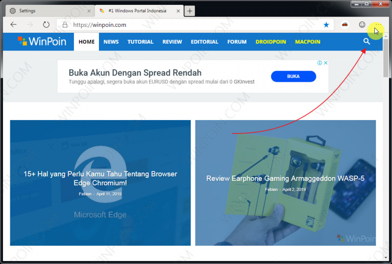 Cara Mengganti Search Engine di Microsoft Edge Chromium (2)