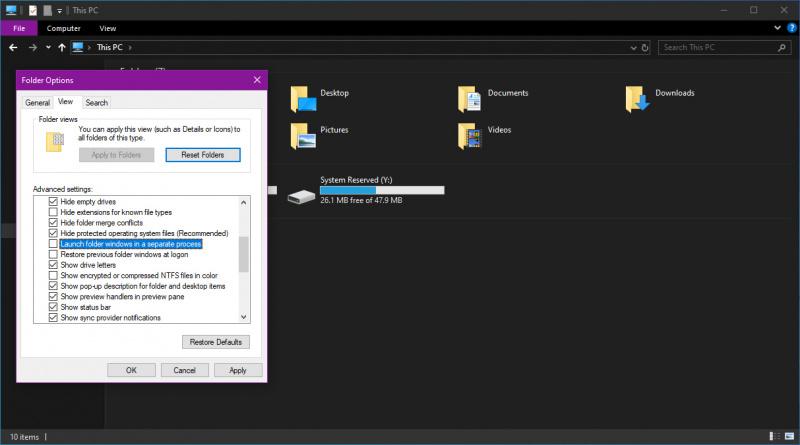 File Explorer Windows 10 1903 Akan Bisa Berjalan Dengan Proses Terpisah! Manfaatnya?