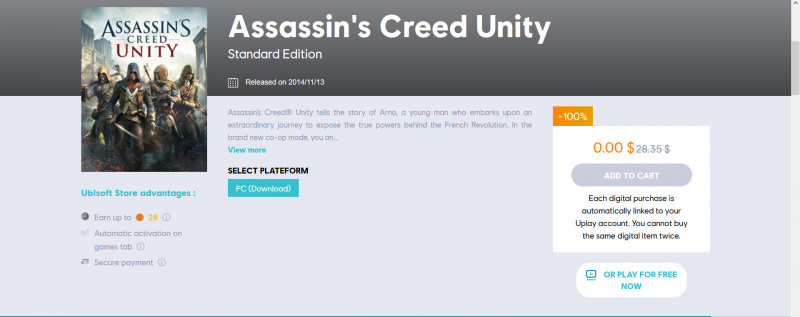 Game Assasin Creed Unity Sedang Gratis! Download Sekarang!