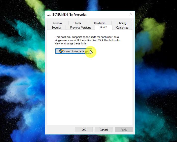Cara Mengaktifkan Kuota Disk di Windows 10