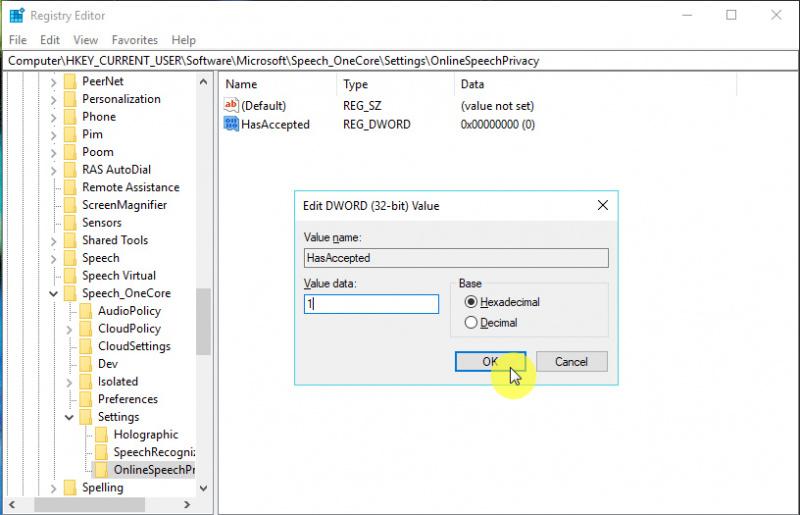 Cara Mengaktifkan/Mematikan Pengenal Suara di Windows 10