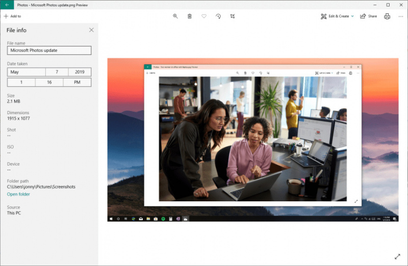 Microsoft is releasing the app to Insiders first to test and help sort out potential bugs, but it shouldn't be long before everyone gets it. If you want to see these changes now, you can join the Preview program straight from the settings within the Photos app.
