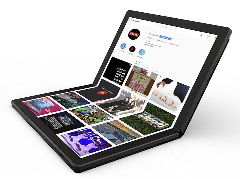 Beberapa jam yang kemudian Lenovo resmi memperkenalkan PC lipat  Lenovo Perkenalkan Foldable PC Pertama di Dunia