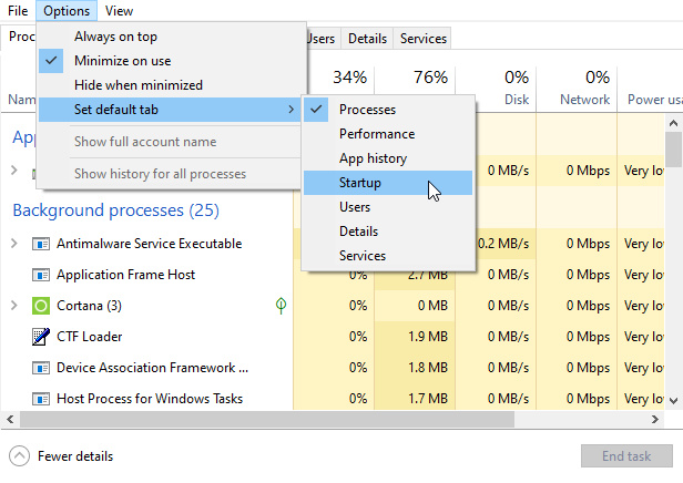 Cara Setting Default Tab Task Manager di Windows 10 (1)