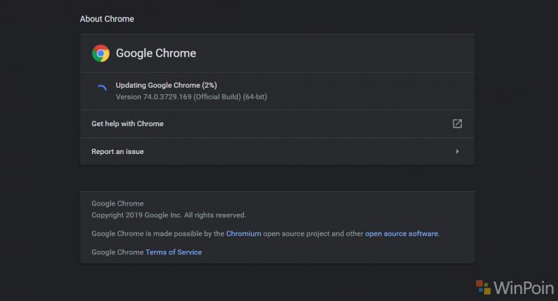 Google telah merilis Chrome 75 ke saluran desktop Stable, dengan fitur-fitur baru dan 42 perbaikan keamanan, dengan dua di antaranya ditandai sebagai High severity.  Pengguna desktop Windows, Mac, dan Linux dapat memperbarui ke Chrome 75.0.3770.80 dengan masuk ke  Pengaturan  -  Bantuan  -  Tentang Google Chrome  dan browser akan secara otomatis memeriksa pembaruan baru dan menginstalnya jika tersedia.