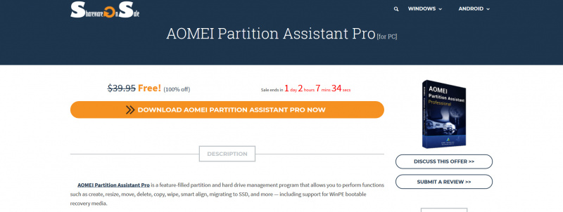 Review : AOMEI Partitions Assistant Professional Editions! (Giveaway!)
