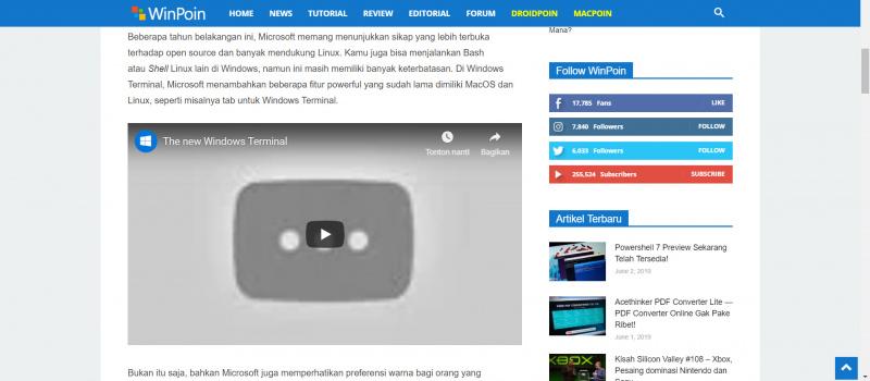 Video Windows Terminal Kena Hak Cipta?!
