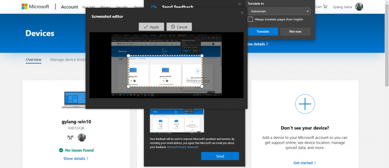 Feedback Tool Microsoft Edge Dapat Fitur Screenshot Editor!