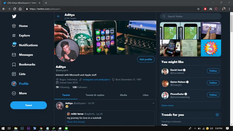 Cara Kembali Ke Layout Lama pada Twitter Desktop