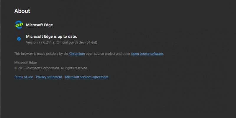 Microsoft Rilis Microsoft Edge Dev Build 77.0.211.2 Dengan Fitur Baru?