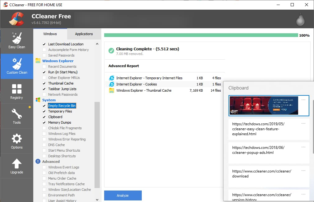 CCleaner Sekarang Bisa Hapus Clipboard History Windows 10!