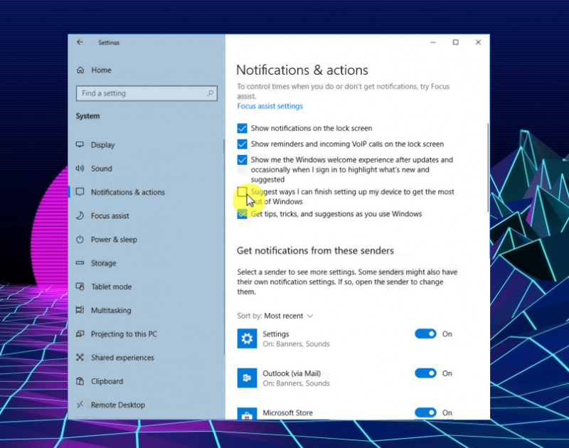 Cara Mematikan Layar 'Get Even More Out of Windows' di Windows 10