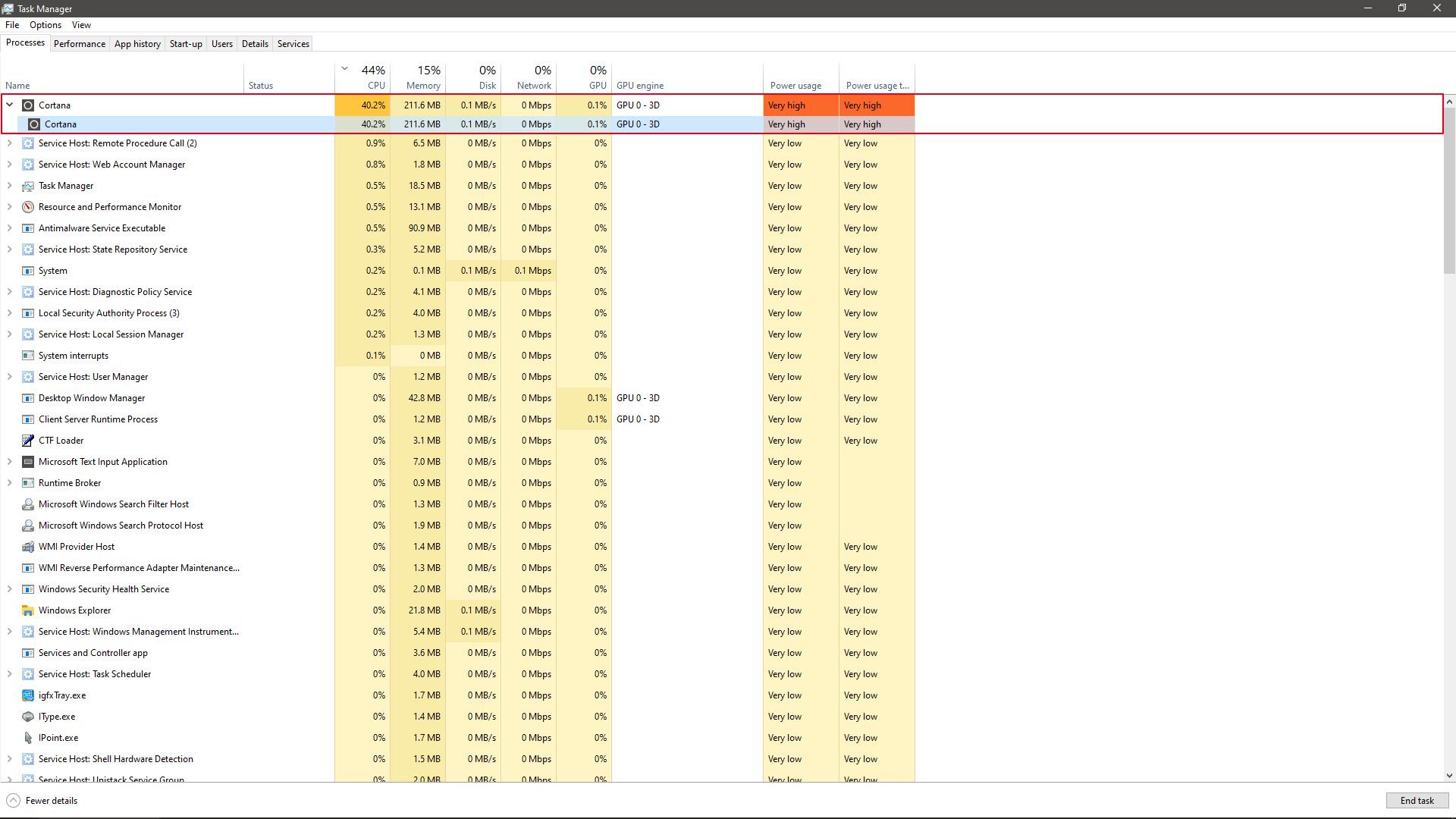 Masalah Lagi! - Cumulative Update KB4512941 Sebabkan CPU Usage Tinggi!