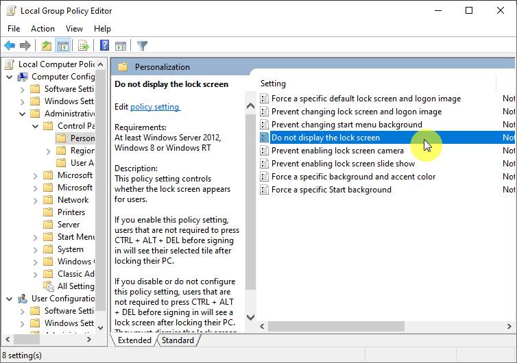 Cara Menghilangkan Lock Screen Di Windows 10 Dengan Group Policy Editor Winpoin