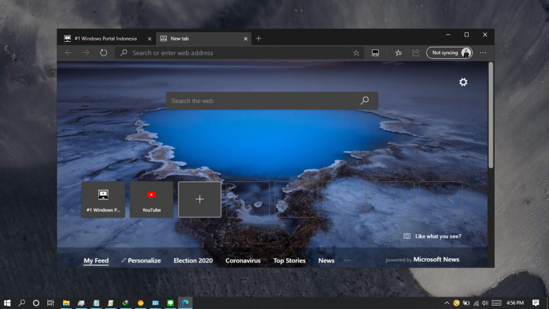 Cara Mengganti Background Pada Tab Baru Di Edge Chromium Winpoin