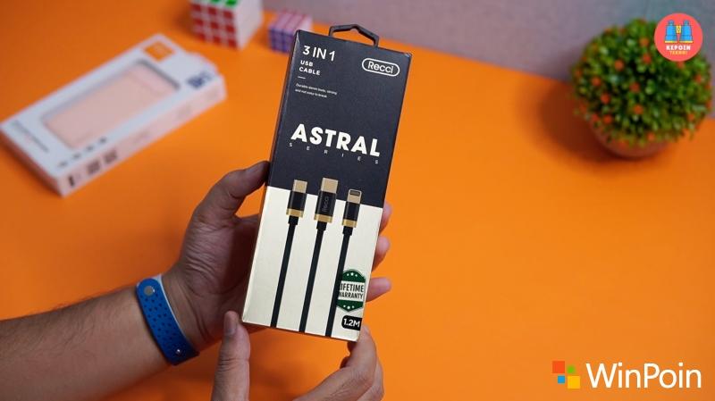 Kabel USB Serbaguna Recci ASTRAL 3-in-1 dan Recci Power Bank