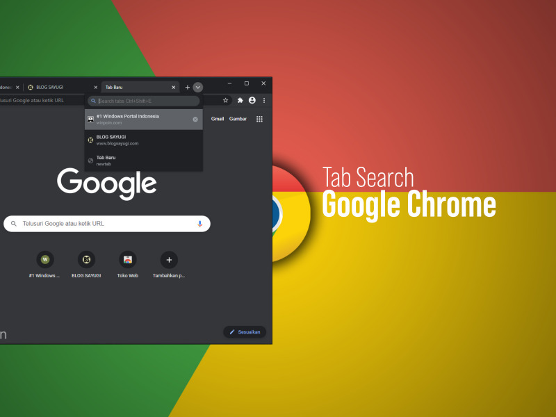 fitur tab search di google chrome